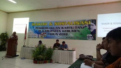 Rakor dan Sosialisasi Pemberlakuan Kartu Tani di Kabupaten Kebumen