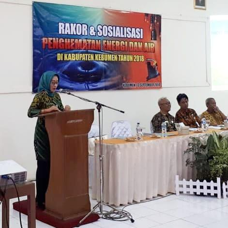 Rakor dan Sosialisasi Penghematan Energi dan Air di Kabupaten Kebumen